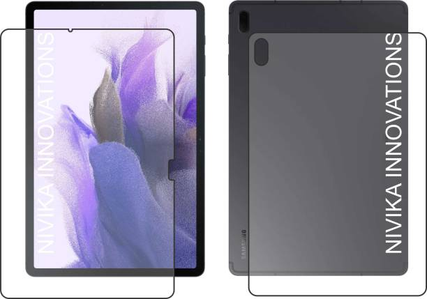 NIK-INOV Screen Guard for Samsung Galaxy Tab S7 FE FRONT CLEAR, Samsung Galaxy Tab S7 FE BACK CLEAR
