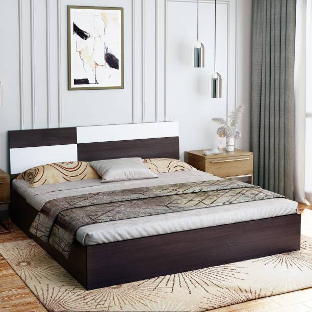 Bharat Lifestyle Rome Engineered Wood Queen Box Bed