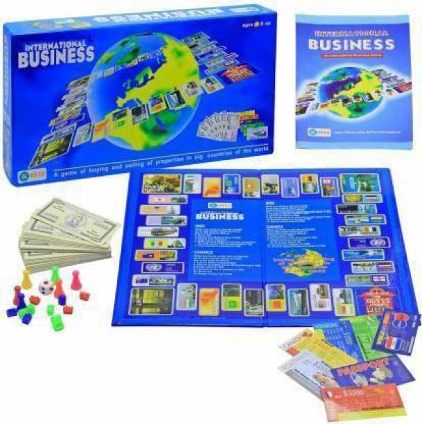 Kids creation International Business Game with Folding Board Game Set for Kids and Adults,Game for Time Pass Party & Fun Games Board Game Board Game Accessories Board Game Board Game Accessories Board Game