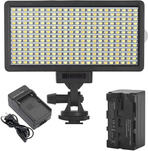 GiftMax Bi-Color Dimmable Pro LED Video Light OS-LED-308 Pocket LED 2100 lx Camera LED Light