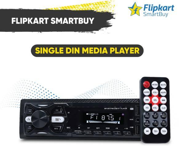 Flipkart SmartBuy 220W Front Panel Universal Fit Single Din Dual USB Ports/Bluetooth/Hands Free Calling/FM/AUX Input/SD Car Media Player Car Stereo