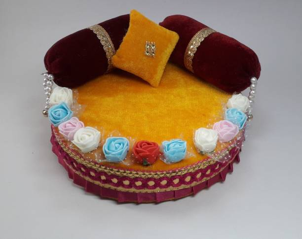 R D Handicraft Silk All Purpose Chowki
