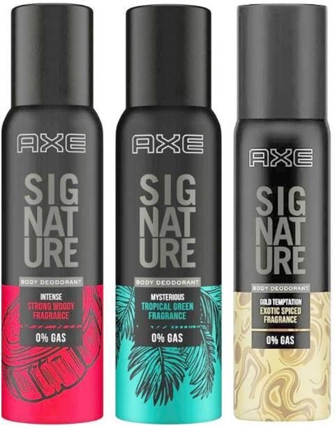 AXE Signature Intense + Mysterious + Gold Temptation Body Deodorant 3X122ml Body Spray  -  For Men