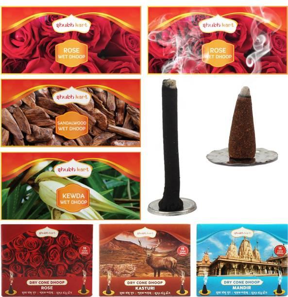 Shubhkart Stick & Cones Rose Dhoop