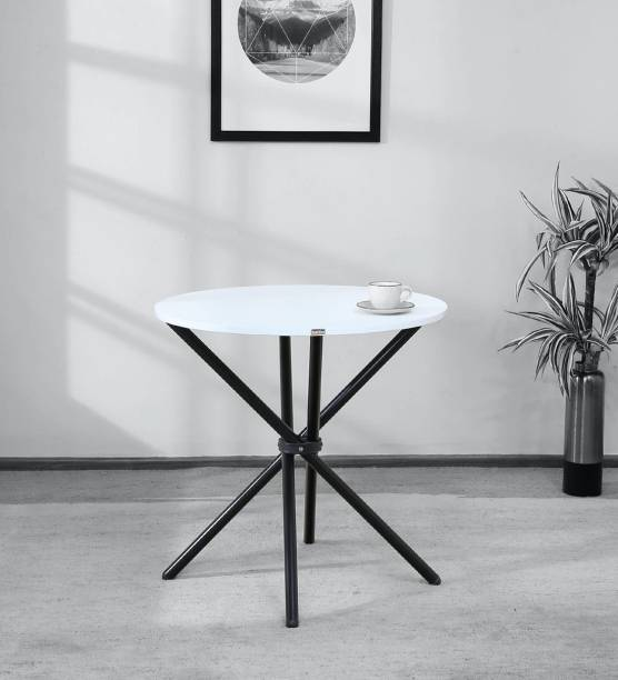 Woodware chopstick-white-black-30inch Engineered Wood 2 Seater Dining Table