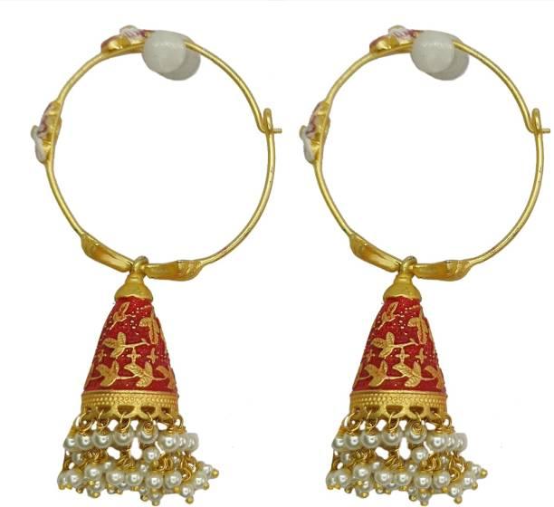 ayat Classic/Playful Brass Hoop Earring