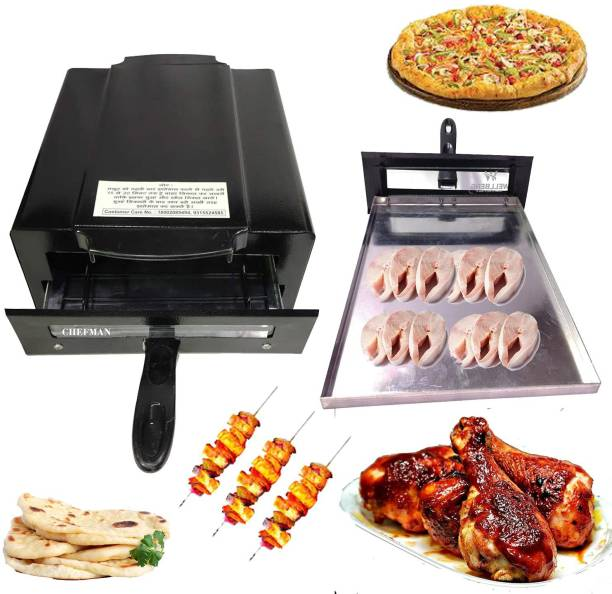 Chefman Electric Tandoor with Auxiliary Equipment (Black) (14 Inch) Pizza Maker (Black) Pizza Maker