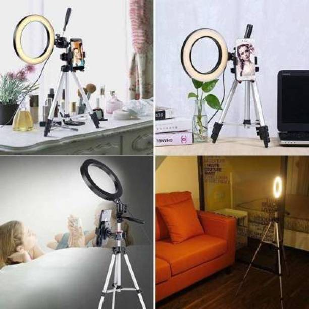Borneo LED Ring Light 10 Inch With Cell Phone Holder Without Tripod Stand Flash Ring Flash A4 Ring Flash
