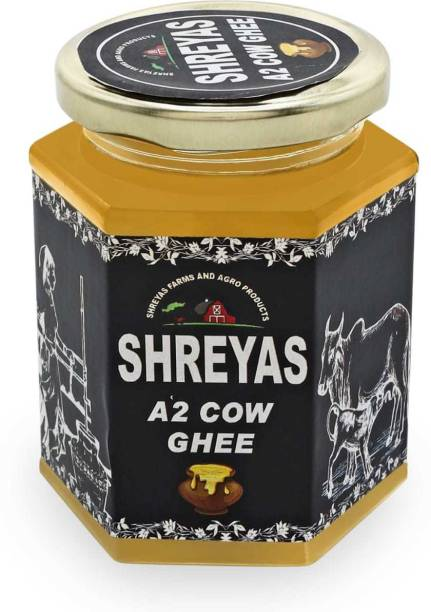 shreyas A2 Desi Cow Ghee 250 g Glass Bottle