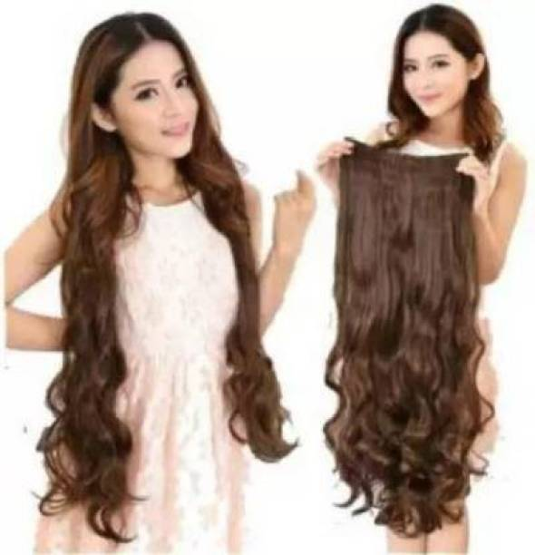 HAVEREAM Stylish curly natural brown Hair Extension
