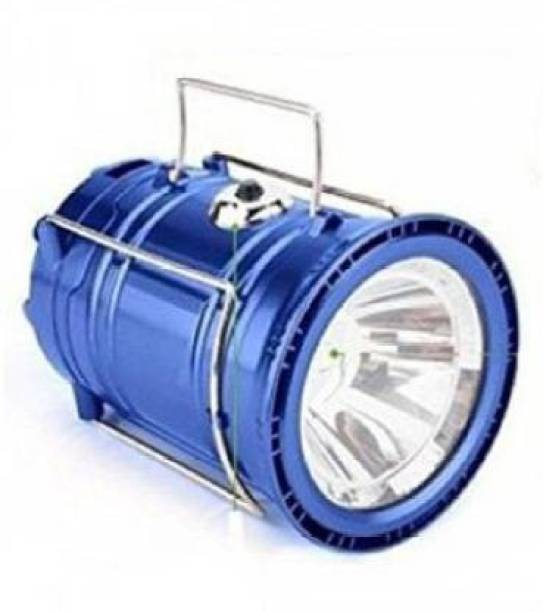 MARCRAZY Reachargeable camping solar plastic lantern Blue Stainless Steel, Glass Hanging Lantern