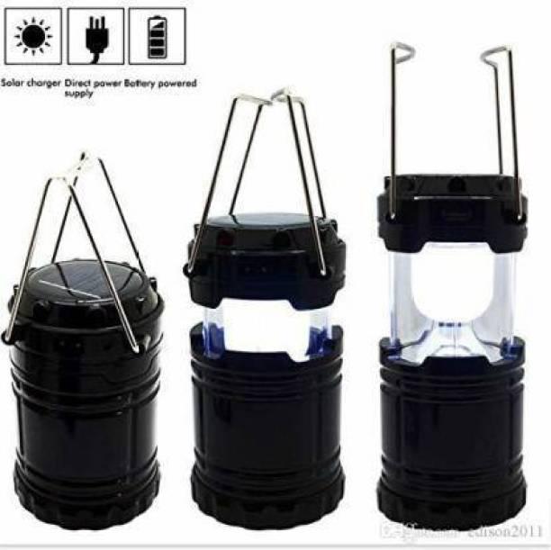 BERRIN Solar Emergency Lantern, Black Plastic Hanging Lantern