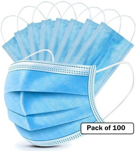 Nea 3ply , 3 layered Pharmaceutical Face Mask Anti Pollution , Anti Viral Mask CE , ISO , DRDO , SITRA Certified with nosepin Surgical Face Mask - 003 Water Resistant, Reusable, Washable Surgical Mask With Melt Blown Fabric Layer