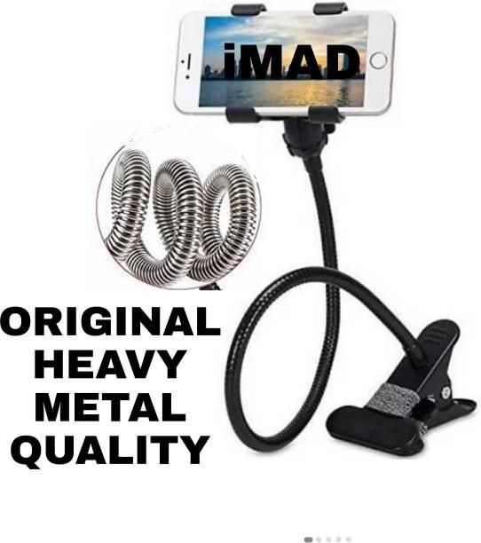 imad Metal Lazy Stand Bracket Mobile Phone Stand   Flexible   Portable - Foldable   360 Degree   Gooseneck Long Arm Clip Mobile Holder Mobile Holder