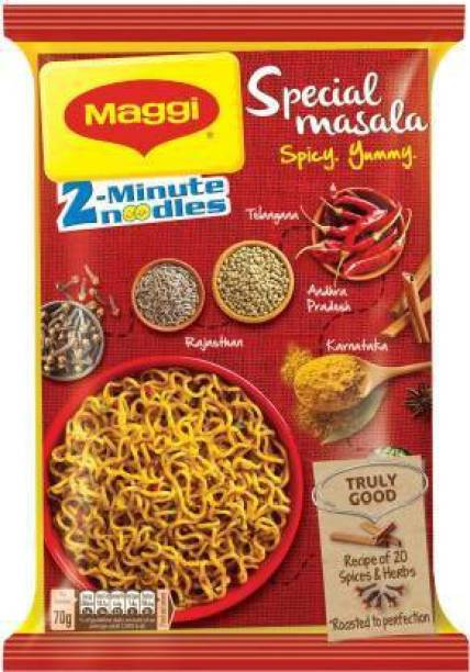 Maggi Minute Special Masala Instant Noodles Vegetarian (70 g)*12 Instant Noodles Vegetarian