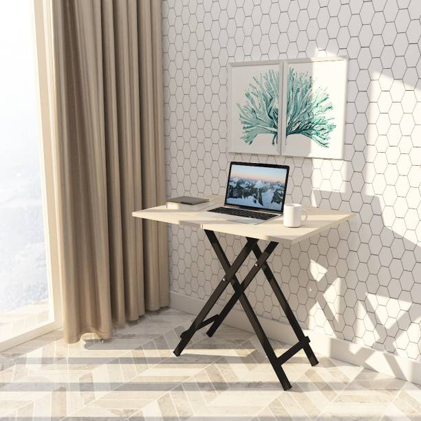 Pazano Multipurpose Foldable Table For Study, Office Laptop, Work From Home Table (80x60x75) Engineered Wood Study Table