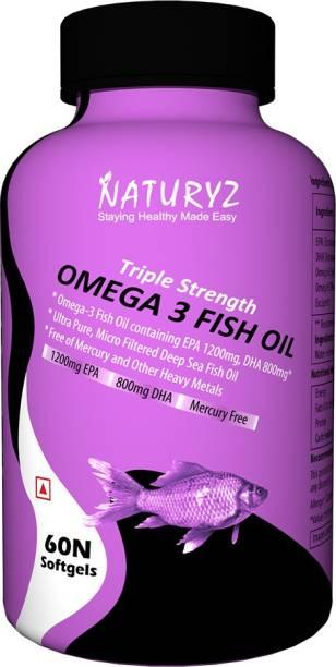 NATURYZ Fish Oil 1400Mg (Triple Strength) With 1000Mg Omega 3 (600Mg Epa, 400Mg Dha)