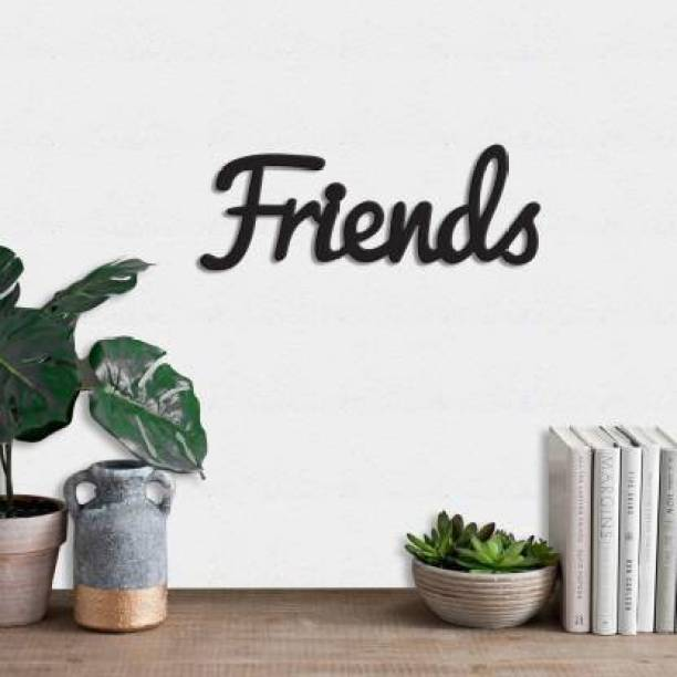 Dravin Craft Dravin Craft Street Friends MDF Plaque Painted Cutout Ready to Hang Home Decor Wall Art (Black)