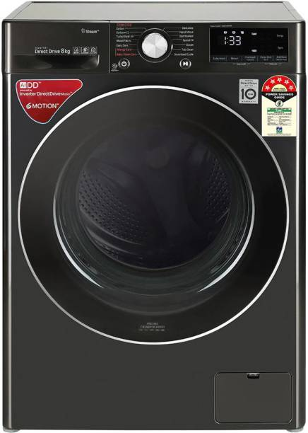 LG 8 kg Fully Automatic Front Load Black