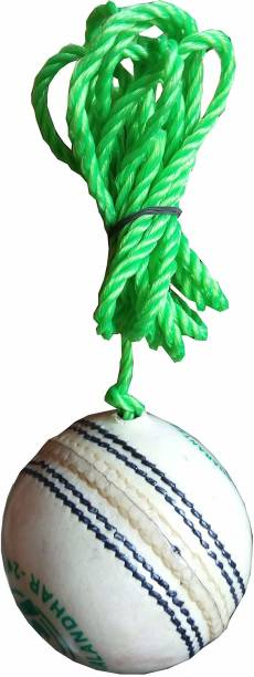 HIDE OUT Practice cricket ball in white colour pack of 1 Cricket Leather Ball