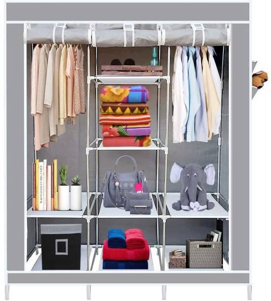 GTC 6+2 Shelves 3 Door 88130 Portable PP Collapsible Wardrobe