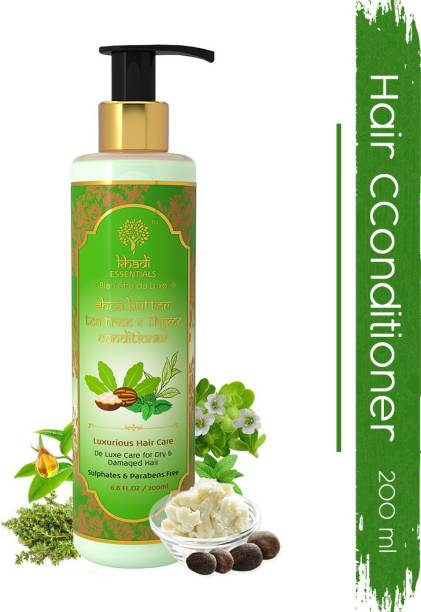 Khadi Essentials Shea Butter & Tea Tree Hair Conditioner for Deep Moisturising and Hydration with Thyme and Peppermint