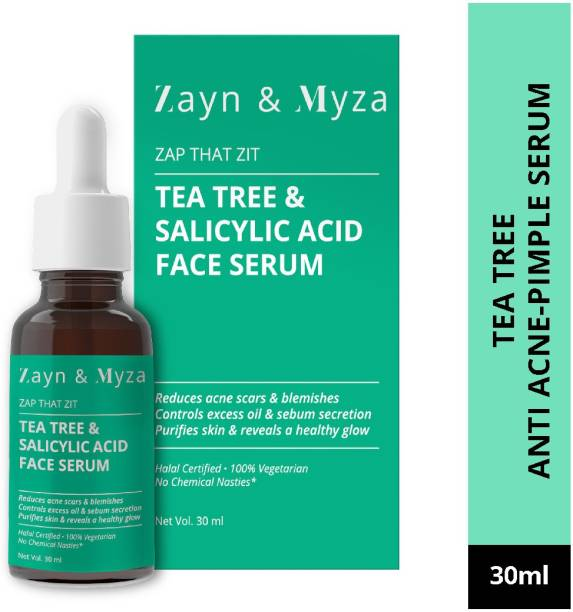 ZM Zayn & Myza Tea Tree & Salicylic Acid Face Serum - Reduces Acne Scars Blemishes, Purifies Skin & Reveals A Healthy Glow For All Skin Types