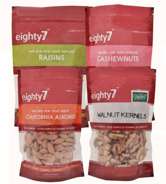 Eighty7 California Almonds(250g), California Walnuts(180g), Raisins(250g) and Cashews(250g)