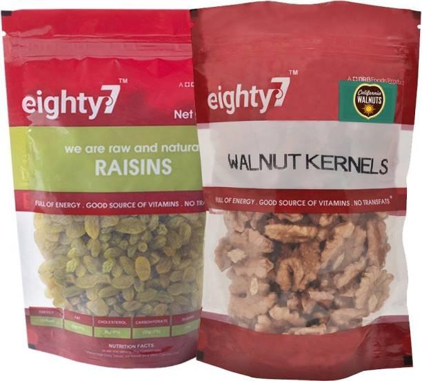 Eighty7 California Walnuts(180g) and Raisins(250g)