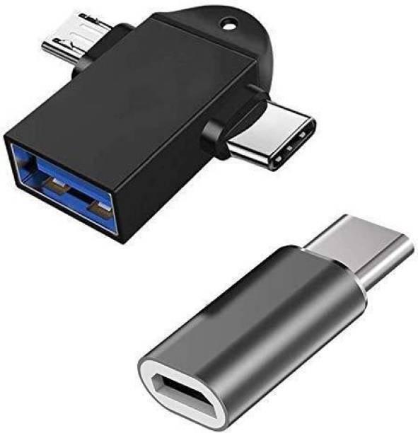 MIFKRT USB, Micro USB, USB Type C OTG Adapter