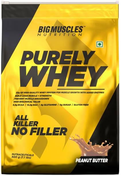 BIGMUSCLES NUTRITION Purely Whey   Isolate Whey Matrix 25g Protein, 12.2g EAA, 4g Glutamine, 0g Sugar Whey Protein