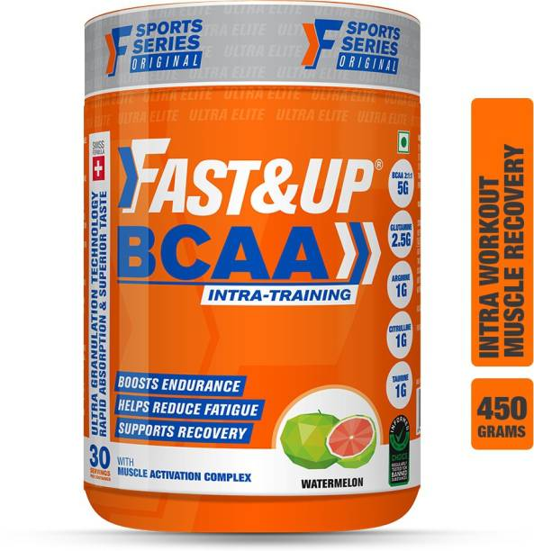 Fast&Up BCAA Supplement- Pre/Post & Intra Workout Supplement For Muscle Recovery&Endurance BCAA