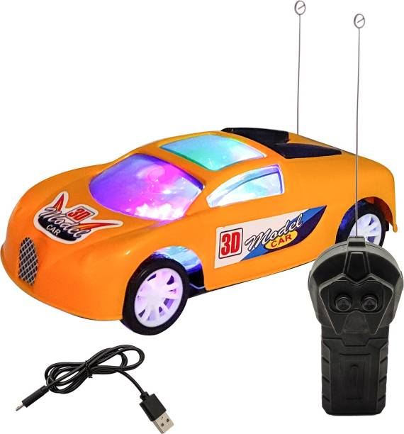 Miss & Chief Model Car Simulation Full - Function With Colorful light Go Forward, Backward, Stop , Remote Control car for Kids