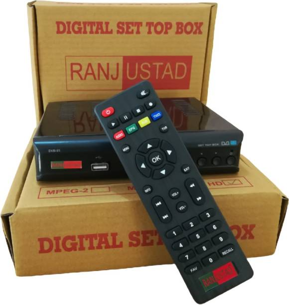 Ranjustad MPEG-4 HD Free To Air Digital Satellite Receiver Device (FSM401) Media Streaming Device
