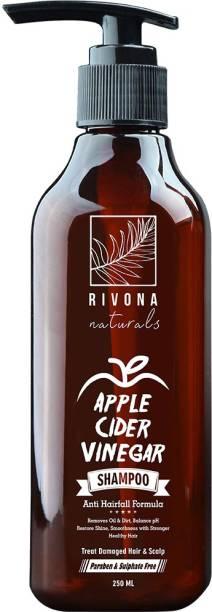 RIVONA NATURALS Apple Cider Vinegar Shampoo - Best Anti dandruff And Hair fall Control Herbal Shampoo - No Paraben, No SLS, No Alcohol, No Silicone, Phthalate Free