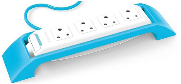 Anchor By Panasonic 22046 6A Spike Guard with 4 Socket, 1 Switch, 1.5 Mtr (White & Blue) 4  Socket Extension Boards