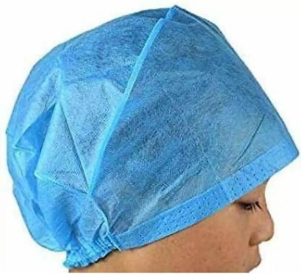 crystal - Specially Designed For Medical Personal Non Woven Material Surgeon Cap ISO 9001:2015 Certified Company ( Pack of 70 ) Surgical Head Cap