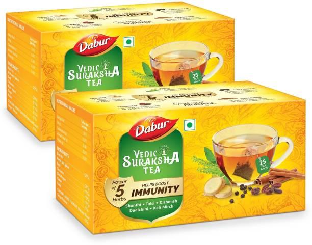 Dabur Vedic Suraksha Black Tea Bags Box