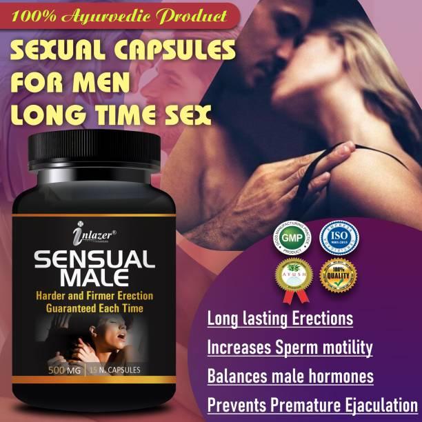 inlazer Sensual Male Sexual Capsules Sex Time Badhane Ki Dawa/ Sexual Power Booster Tablets 100% Ayurvedic