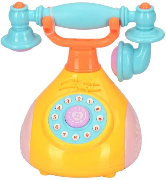 Toy Shopee Musical Toy for Kids/ Retro Phone Landline Baby Phone Mobile Musical Toys for Children(Pack of 1) Rattle