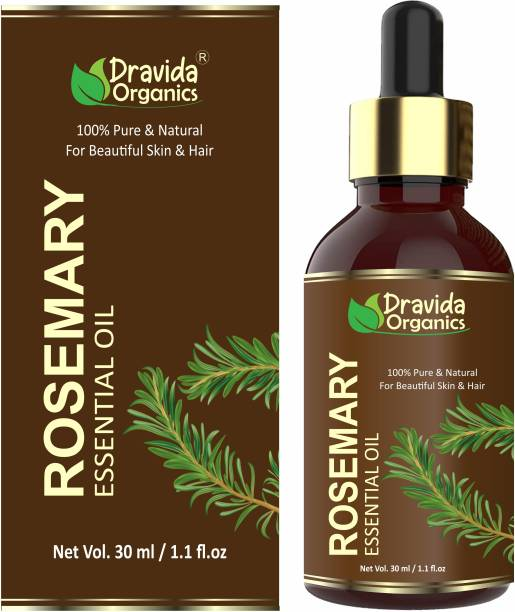 Dravida Organics Rosemary Oil For Skin, Muscle & Hair Conditioner - Rosemary Essential Oil