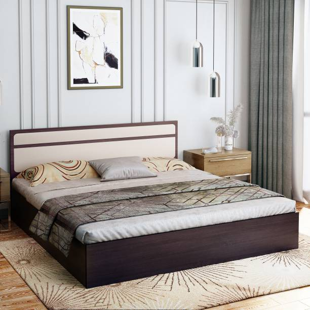 Bharat Lifestyle Engineered Wood Queen Box Bed