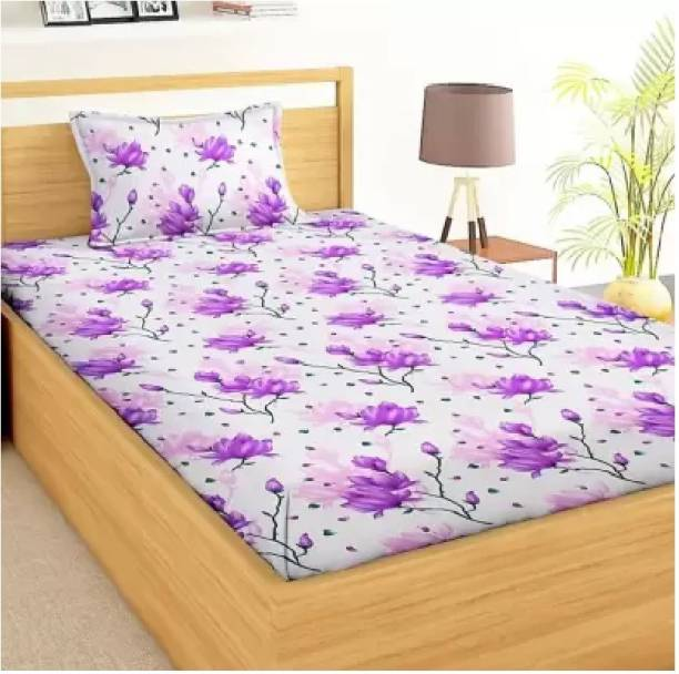 Decor Home Readiness 140 TC Polycotton Single Floral Bedsheet