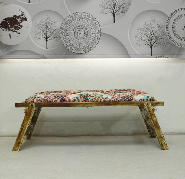 Aadhar Wooden Upholstery Folding Bench Acacia 2 Seater