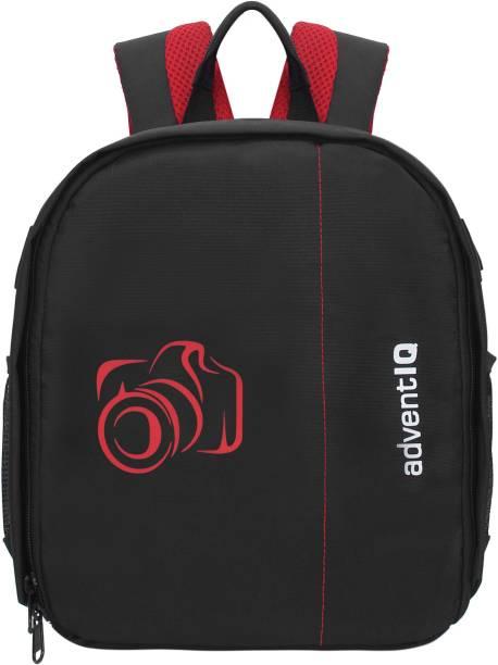 AdventIQ DSLR/SLR Camera Lens Shoulder Printed Backpack-(BNP 0197P-Camera 2)-Red Clr  Camera Bag
