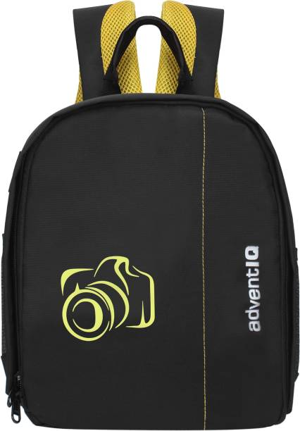 AdventIQ DSLR/SLR Camera Lens Shoulder Printed Backpack-(BNP 0197P-Camera 2)-Yellow Clr  Camera Bag