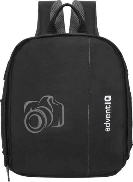 AdventIQ DSLR/SLR Camera Lens Shoulder Printed Backpack-(BNP 0197P-Camera 2)-Grey Clr  Camera Bag