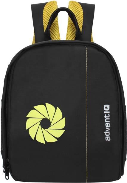 AdventIQ DSLR/SLR Camera Lens Shoulder Printed Backpack-(BNP 0197P-Camera Shutter)-Yellow Clr  Camera Bag