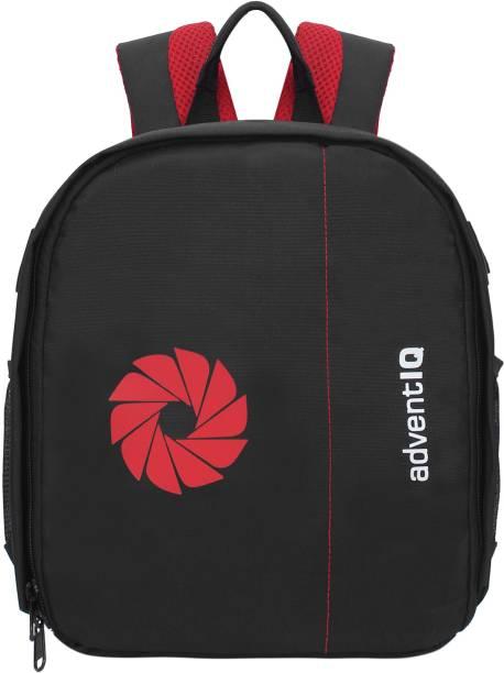 AdventIQ DSLR/SLR Camera Lens Shoulder Printed Backpack-(BNP 0197P-Camera Shutter)-Red Clr  Camera Bag