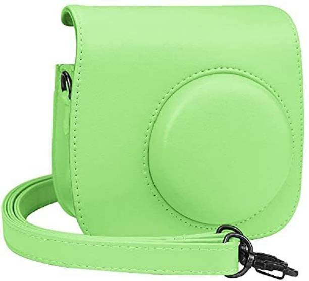 Stela Cover Compatible with Fujifilm Instax Mini 8 Mini 9 Instant Camera, EpicGadget PU Leather Bag Cover with Removable Strap Camera Case for Fujifilm Instax Mini 9/Mini 8 (Green)  Camera Bag